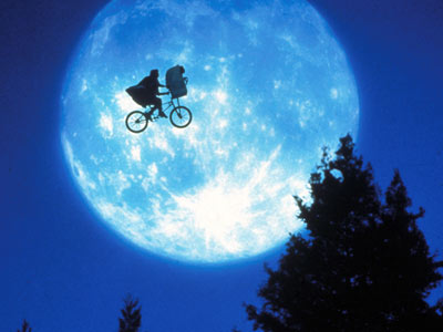 Kids  Bike on Full Moon Et Bike Ride
